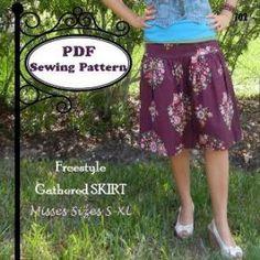 Freestyle Gathered Skirt | YouCanMakeThis.com