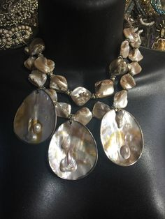 Stunning Shell Necklace #1 by StoneLoveArtJewelry on Etsy https://www.etsy.com/listing/500339250/stunning-shell-necklace-1