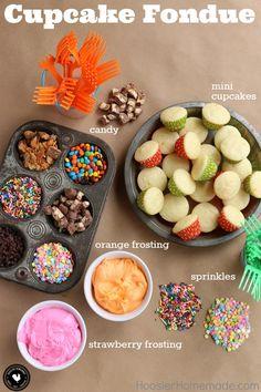 Cupcake Fondue - Hoosier Homemade
