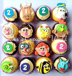12 Fondant Tickety Toc Theme Inspired Toppers by ItsaCupcakesWorld, $24.99