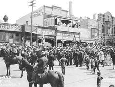 "Katoomba's recruitment ""Cooee"" march."