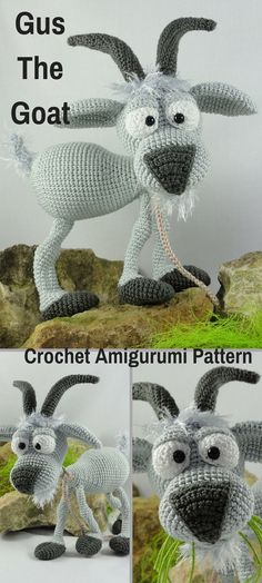 Gus the Goat is a fun crocheted amigurumi Etsy pattern ~ $8
