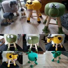 Knitting Stool Cases For Kids Room Decoration 14 - Ideas For Diy Cute Crochet, Crochet For Kids, Crochet Baby, Knit Crochet, Crochet Home Decor, Crochet Crafts, Crochet Projects, Crochet Amigurumi, Crochet Dolls