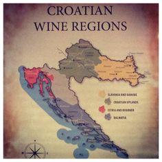 The wine regions of #Croatia!