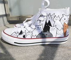 60 best ideas sneakers drawing converse all star Diy Converse, Converse Design, Painted Converse, Converse Wedding Shoes, Painted Sneakers, Hand Painted Shoes, Converse All Star, Converse Shoes, Custom Converse
