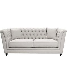 Cream Upholstered Chesterfield Sofa – Allissias Attic & Vintage French Style