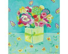 kimberley hodge artist | Aqua Paisley Fine Art Giclee Canvas Print by Kimberly Hodges, 11 x 14 ...