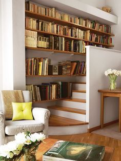Home Design and Decoration Ideas For Reading Nook – Einrichten und wohnen Home Library Design, Home Interior Design, Design Desk, Sweet Home, Home Libraries, My Dream Home, Living Spaces, Living Room, New Homes