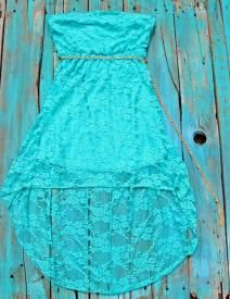 Plus Lace High Low Dress