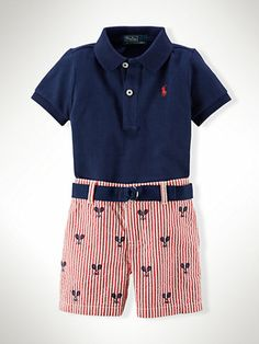 Cotton Polo & Schiffli Short - Sets   Infant Boy (9M–24M) - RalphLauren.com