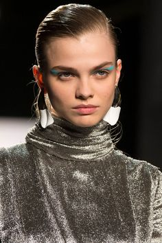 Prabal Gurung FW17 paint-dipped silver earrings #sculptural #statementearrings