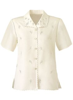 Allover Embroidered Blouse