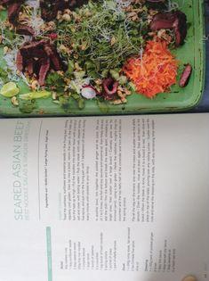 Jamie Oliver's Seared Asian beef, noodle salad and ginger dressing Jamie Oliver Steak, Jaime Oliver, Tortellini, Mug Recipes, Cooking Recipes, Easy Recipes, Thai Beef Salad, Steak Salad, Pesto