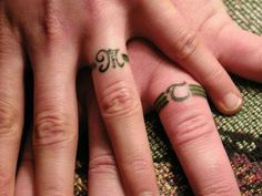 Tattoo Initials for wedding rings