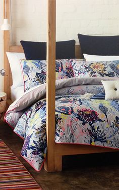 R.M. Williams branch into bed linen and homewares // I love this quilt cover!