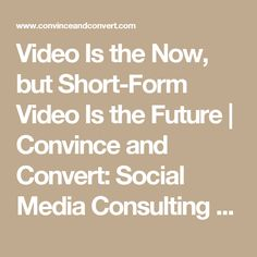 Video Is the Now, bu