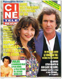 sophie marceau mel gibson cine revue cover, june 1994