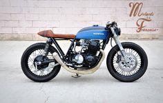 "HONDA CB750: ""BABY BLUE"" motorcycle - cafe racer - lifestyle - accesories - motards à la française - clothing - vêtements custom lifestyle - tee shirt motard - tee shirt biker - sweat mode - handmade - MALF -https://www.facebook.com/pages/Motards-à-La-Française"