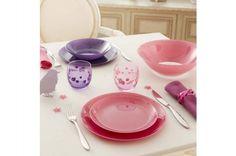 Serwis obiadowy różowy 18-el ARTY LUMINARC