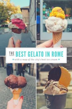 The Absolute 10 Best Places for Gelato in Rome - An American in Rome - Where to find the best gelato in Rome, Italy - Italy Honeymoon, Italy Vacation, Italy Trip, Italy Italy, Toscana Italy, Sorrento Italy, Italy Food, Verona Italy, Capri Italy