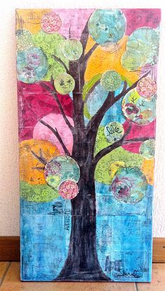 mixed media canvas by Studio Shirel  www.studioshirel.com  www.blog.studioshirel.com