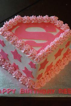 Supergirl Cake http://www.mystoryinrecipes.com/specialty-desserts.html
