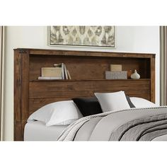 Headboard With Shelves, Bookshelf Headboard, Panel Bed, Bedding Inspiration, Bed Design, Bed, Farmhouse Headboard, Bed Headboard Storage, Bookshelf Bed
