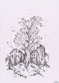 Картинки по запросу рисунок дерева из сериала волчонок