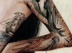 Sea tattoos are fantastic