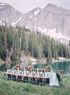 intimate wedding ceremony in the hills of telluride colorado | Heather Payne Photography