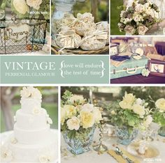 Ideas for Vintage Themed Wedding decor using great baskets!