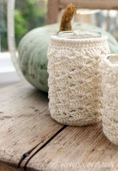 Jar Cozy (with link to free pattern)