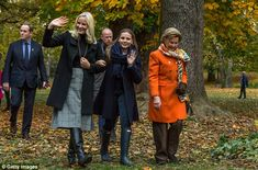 Princess Mette Marit, Princess Ingrid Alexandra and Queen Sonja of Norway attend the unvei...
