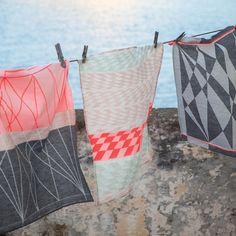 Love the colours! Textiles, Textile Patterns, Textile Design, Print Patterns, Textile Artists, Soft Furnishings, Household Items, Tea Towels, Color Inspiration