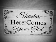 Uncle here comes your Bride sign Personalized Flower by SignChik
