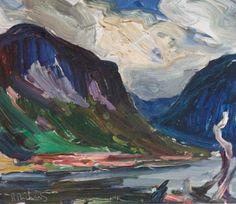 Rene Richard - Riviere Malbaie 13 x 15 Oil on half board Half Board, Canadian Painters, Objet D'art, Sculpture, Oil, Painting, Pottery, Objects, Painting Art