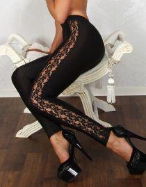 Leggings gothique look cuir