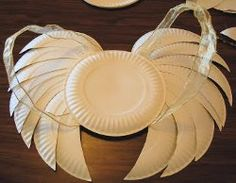 Easy-Peasy Last-Minute Angel Wings are one of the quickest and most inexpensive angel crafts to make--all you need are some paper plates, ribbon, scissors, a marker and some glue!