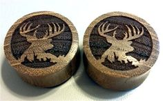 Custom Handmade Organic Trophy Buck Wood Plugs  by ULEKstore, ONLY $19.95  Also available on ulekstore.com