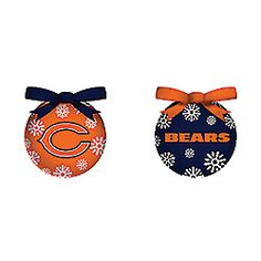Chicago Bears LED Ornaments - Sports Fan Shop from Smilemakers