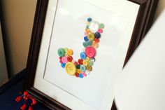 a pretty cool life.: DIY: Monogram button art