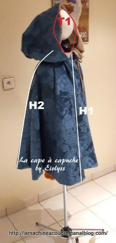Cape - tuto simplissime Diy Couture Cape, Couture Sewing, Costume Chevalier, Diy Cape, Costumes Couture, Medieval, Fashion Lookbook, Dressmaking, Diy Clothes