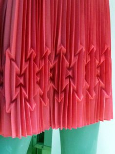 Pleated smocked skirt. amazing.