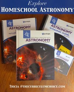 (Win a year of science!) Explore Homeschool Astronomy - a creation based textbook for K-6th grades with an emphasis on the great things in the new, 2nd edition.