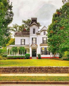 """Mary Miller on Instagram: """"Mansion Monday coming straight from Marietta! Beautiful Tower Oaks - 1882 Italianate Style. Crazy curb appeal on this one!!! . . . . .…"""" Curb Appeal, Georgia, Tower, Mary, Mansions, House Styles, Beautiful, Instagram, Rook"""