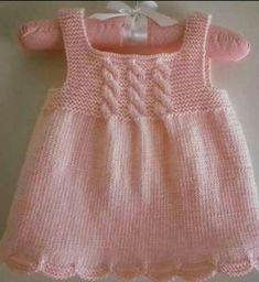 Best 12 Ravelry: Netka's Green Apple dress – SkillOfKing. Girls Knitted Dress, Crochet Summer Dresses, Knit Baby Dress, Knitted Baby Cardigan, Crochet Baby Clothes, Baby Sweater Patterns, Baby Girl Dress Patterns, Baby Knitting Patterns, Knitting Designs