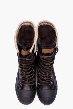 CONVERSE BY JOHN VARVATOS //  Black Leather Chuck Taylor All Star Boosey Boots