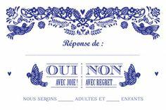 carton réponse mariage papel picado by Tomoë pour www.fairepart.fr