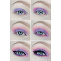 Ideas para maquillarte como una chica pastel goth ❤ liked on Polyvore featuring makeup