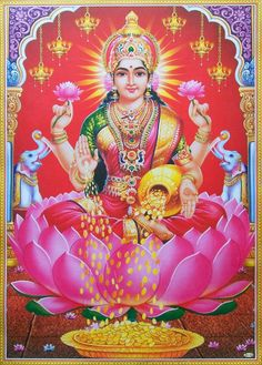 Lakshmi or Laxmi, is the Hindu goddess of wealth, fortune and prosperity. She is the wife and shakti (energy) of Vishnu, one of the principal deities of Hinduism and the Supreme Being in the Vaishnavism Tradition. With Parvati and Saraswati, she forms Tri Lakshmi Photos, Lakshmi Images, Doreen Virtue, Wallpaper Pictures, Hd Wallpaper, Photo Wallpaper, Devi Images Hd, Indiana, Image Hd
